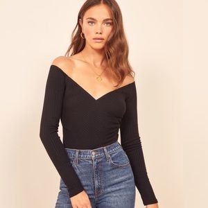 Reformation // Minnie Long Sleeve Ribbed Top